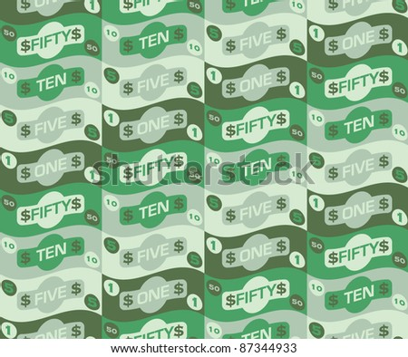 Seamless repeat money pattern - 3