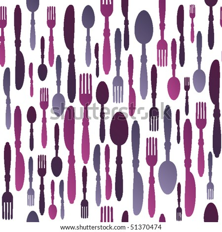 Seamless restaurant cutlery pattern in vector