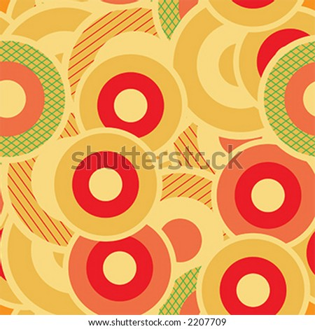 Seamless retro circles pattern - vector