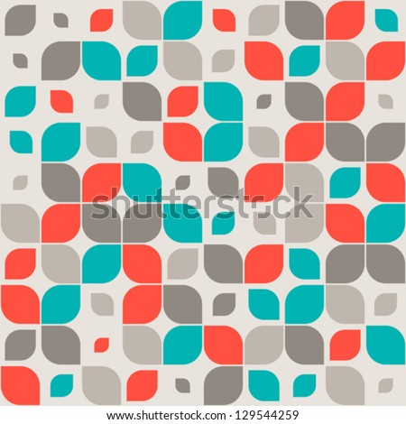 Vector images illustrations and cliparts seamless retro geometric pattern - Fall landscaping ideas a mosaic of colors shapes and scents ...