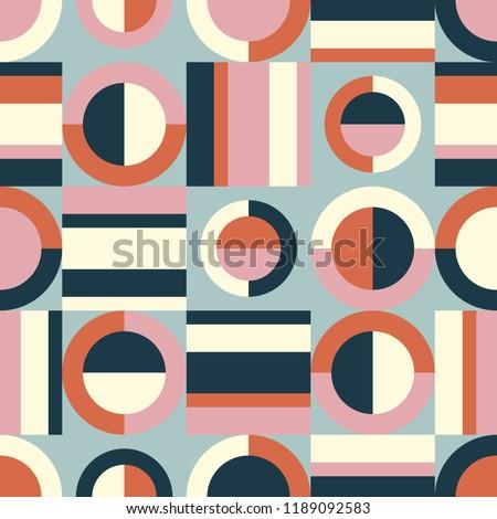 seamless retro pattern with geometric elements Stock photo ©