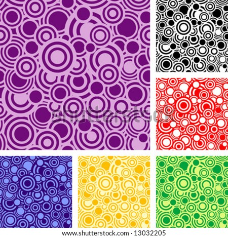 Seamless retro pattern with rings