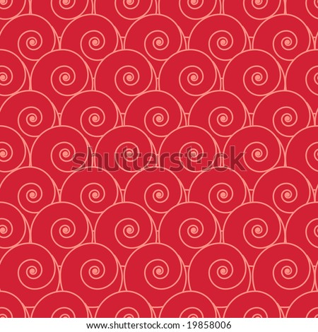 Seamless retro red spiral pattern