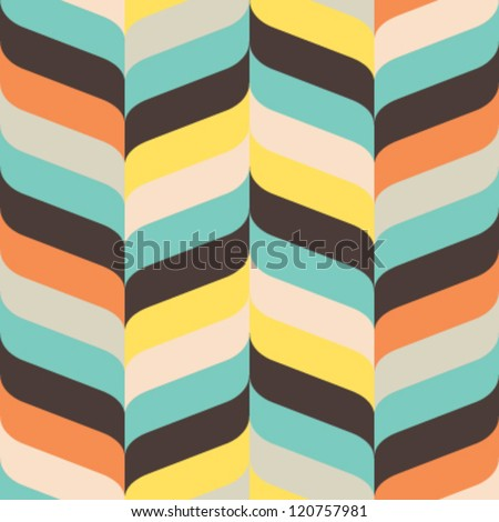Seamless ribbon chevron background pattern