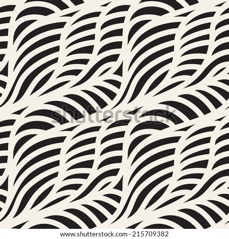 Seamless ripple pattern. Trendy vector texture. Stylish background. Diagonal waves from smooth elements