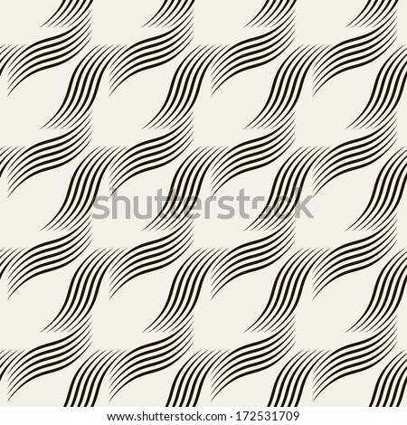 Seamless ripple pattern. Trendy vector texture. Stylish background with diagonal direction