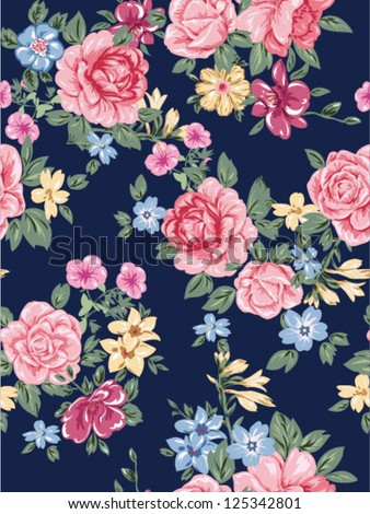 seamless romantic flowers jersey sweater floral pattern high fashion roses chiffon or satin fabric also