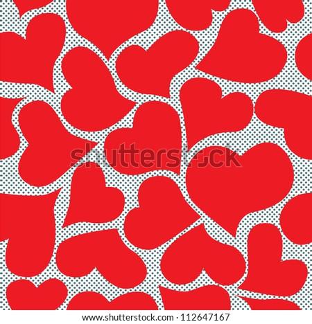 Seamless romantic hearts valentines vector
