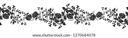 Seamless rose border (Vector)