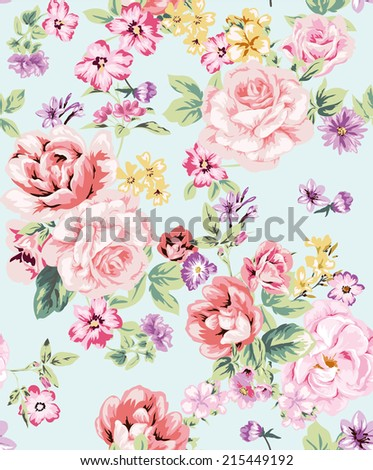 seamless rose pattern for floral background design