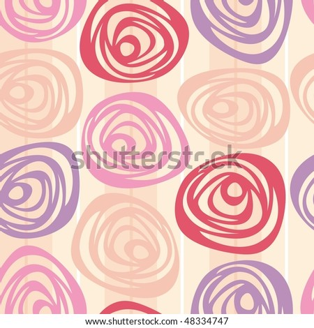 Seamless rose vector background