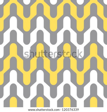 Seamless rounded chevron type retro geometric background pattern