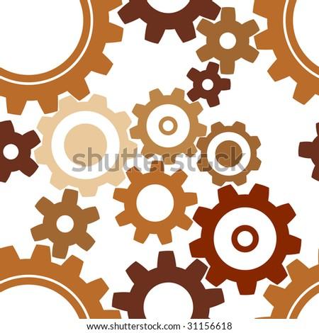 seamless rusty cogwheel pattern - factory background