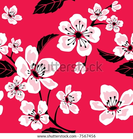 Seamless Sakura Blossom Pattern