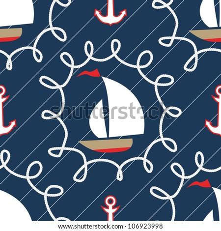 Seamless sea pattern.marine theme
