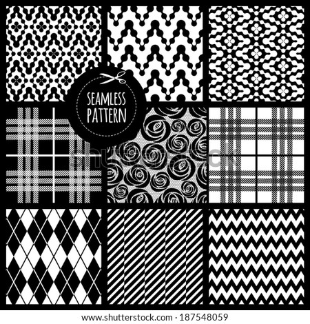 Seamless set fabric pattern
