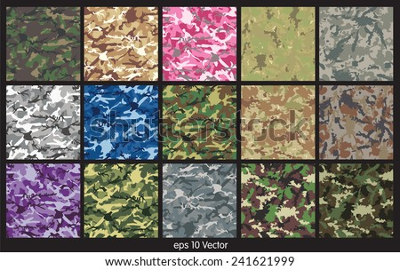 stock-vector-seamless-set-of-camouflage-pattern-vector