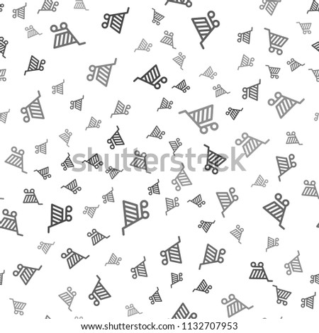 seamless shopping cart pattern on a white background. simple shopping cart icon creative design. Can be used for wallpaper, web page background, textile, print UI/UX