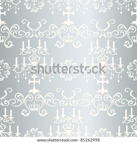 Seamless silver design pattern