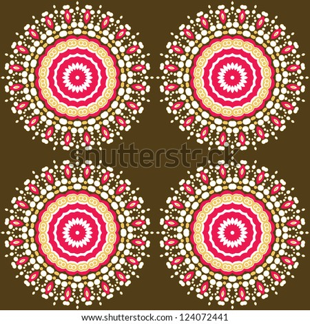 Seamless simple flower pattern - stock vector