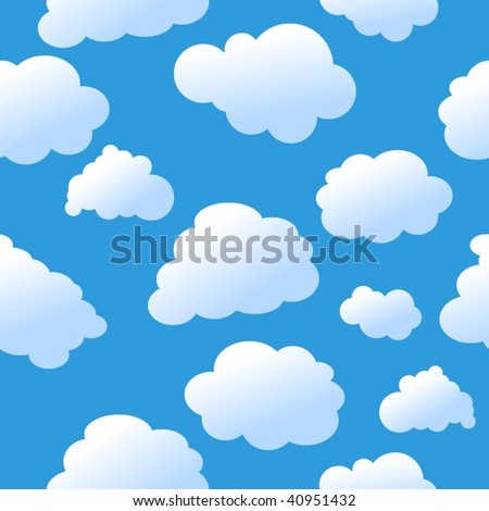 Seamless sky background - stock vector