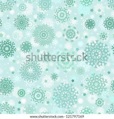 Seamless snowflakes background for winter. And also includes EPS 8 vector
