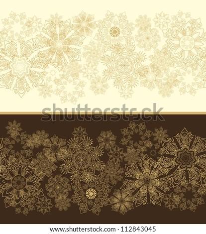 seamless snowflakes christmas border