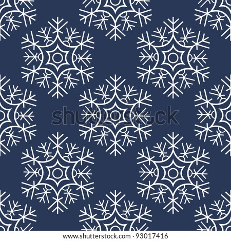 Seamless snowflakes pattern. vector