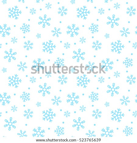 seamless snowflakes pattern vector illustration