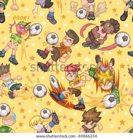 seamless soccer pattern - stock vector