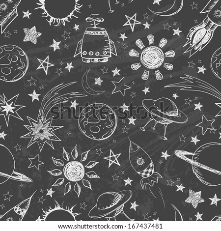 seamless space pattern can be