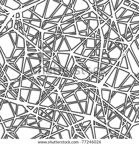 Seamless spider web. Connected black lines on white background