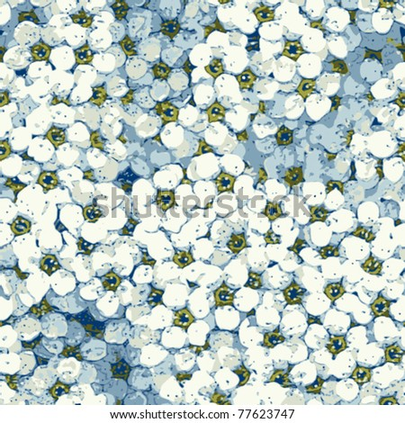 seamless spring flowers background