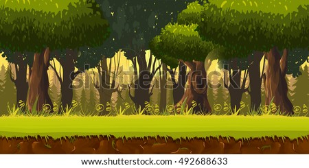 seamless spring forest