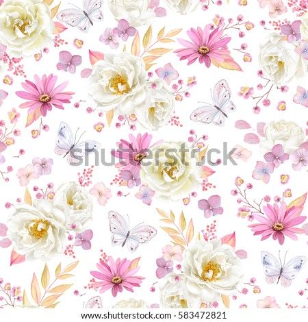 seamless spring pattern with