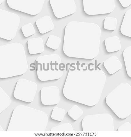 stock vector seamless square pattern vector soft background regular white texture 259731173 - Каталог — Фотообои «3D Текстуры»
