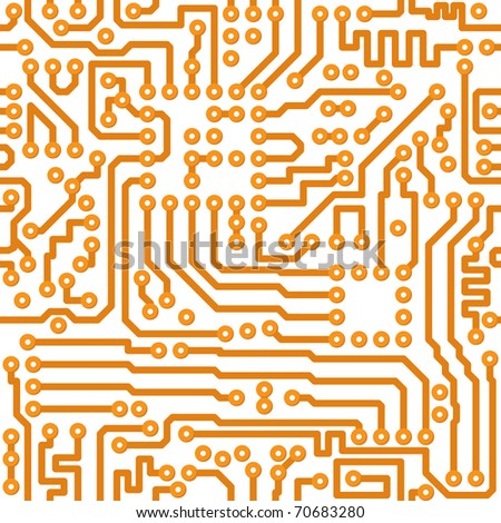 Seamless square texture - the vector electronic printed-circuit board