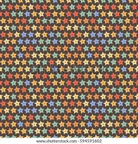 Seamless star pattern. Endless wrap