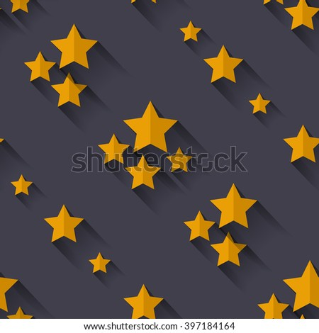 seamless starry pattern flat