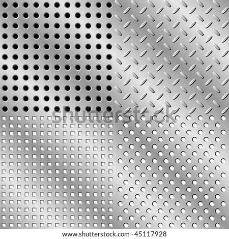Seamless steel background collection - stock vector