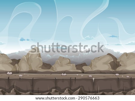 seamless stone and rocks desert