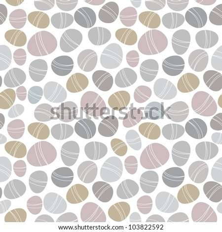 Seamless stone pattern on white background