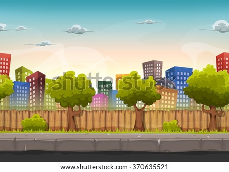 seamless street city landscape