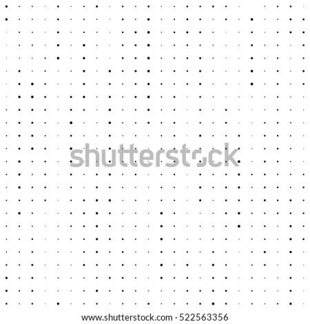 Seamless Stripe Pattern. Vector Monochrome Chaotic Texture. Fine Dots Background. Modern Minimal Web Texture