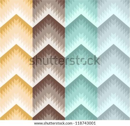 Seamless stripe zigzag pattern - stock vector