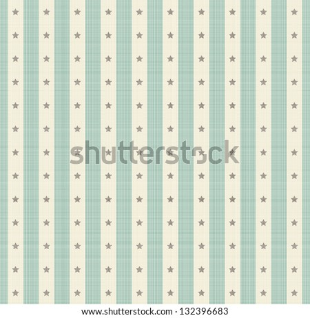 Seamless striped background with stars - stock vector