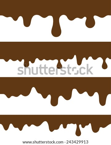 seamless strips melted chocolate