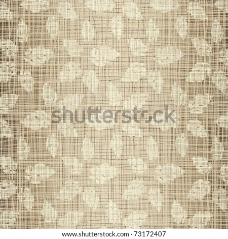 Seamless structure Beige leaves against a linen cloth