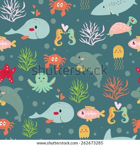 seamless submarine background