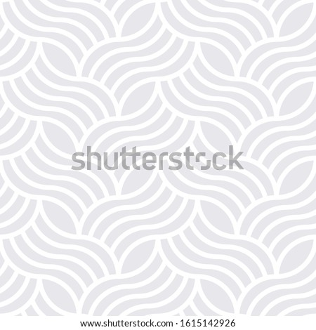 Seamless subtle gray vintage woven ornate art deco outline pattern vector